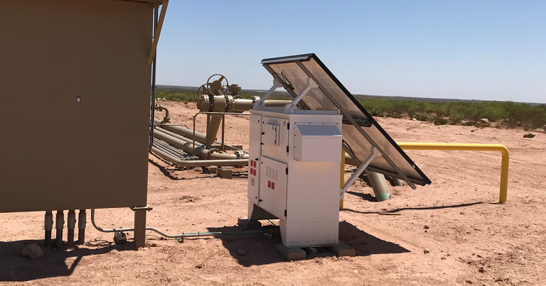 EFOY Pro Hybrid Solution deployed for GlobalLogix in West Texas